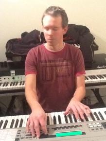 Jan tijdens repetitie